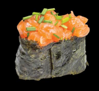 9. Sushi Tartare de saumon (2pcs)