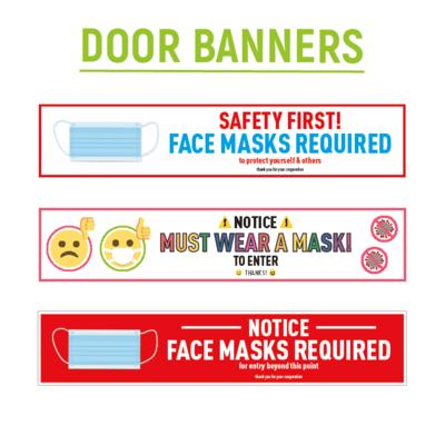 Mask Required Door Banner