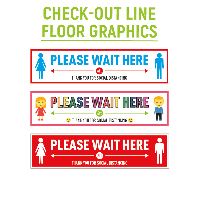 Check-out Line Floor Graphics