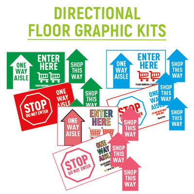 Directional Floor Graphic Kits