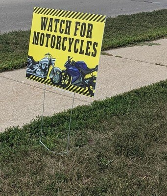 Motorcycle Safety Signs