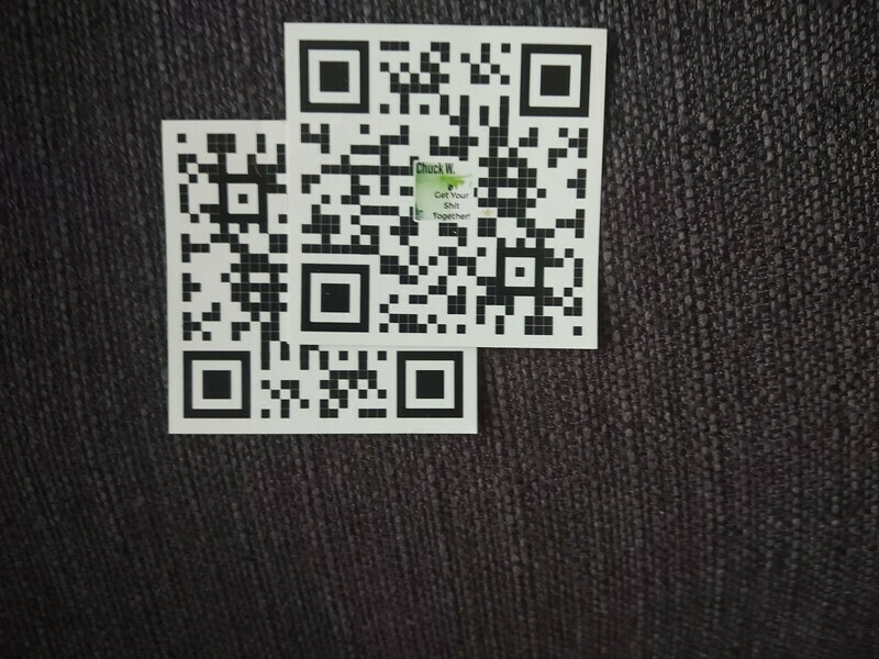 Get Your Shit Together! QR Code Stickers