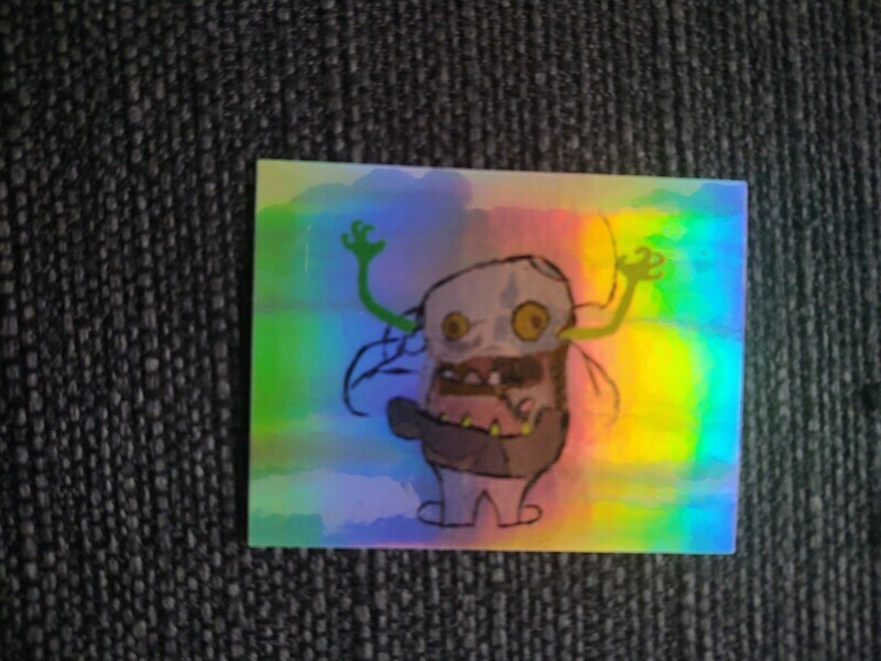 D.B. The Dust Bunny On A Shiny Sticker