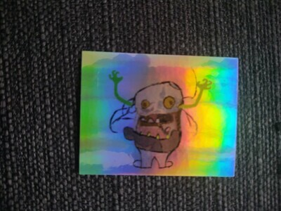 D.B. The Dust Bunny On A Shiny Sticker