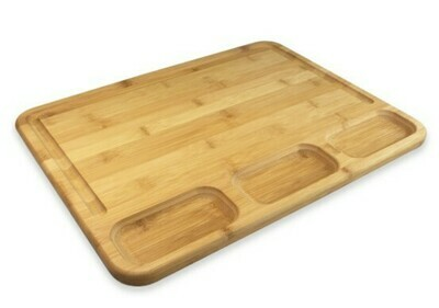 3 Well Kitchen Prep Cutting Board with Juice Groove