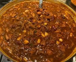 Smoked Brisket Chili Dinner