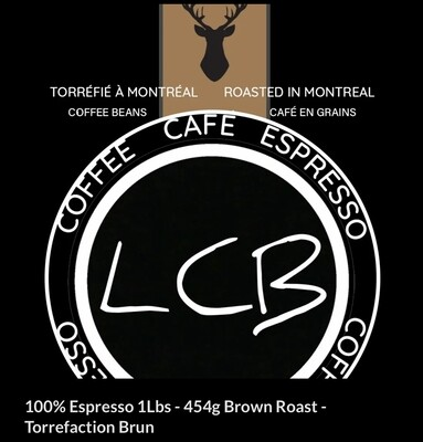 100% Espresso 454G - Torrefaction Moyen