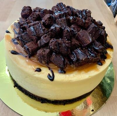 """Fudge Brownie & Caramel 6"""" SANS GLUTEN"""