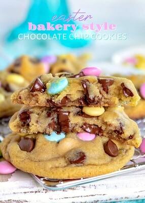 6 Biscuits de Pâques aux pépites de chocolat et M & M