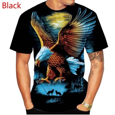 3D Eagle Printed Womens and Mens Short Sleeves fashion Casual Sport T Shirts