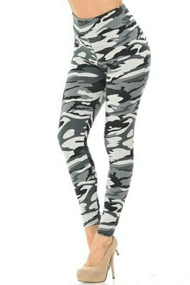 Buttery Soft Charcoal Camouflage Leggings