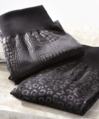 Embossed Animal Print Leggings