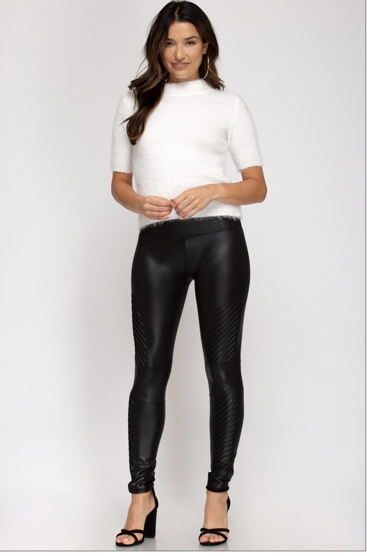 Faux Leather Leggings full length