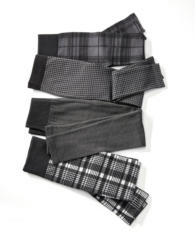 Fleece Lined Leggings asst print
