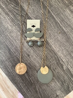 CP Grey and Gold Jewelry Asst