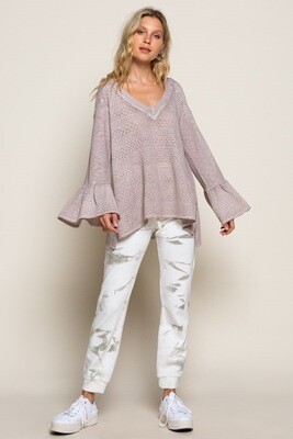 Dressy Rose Peplum Knit top