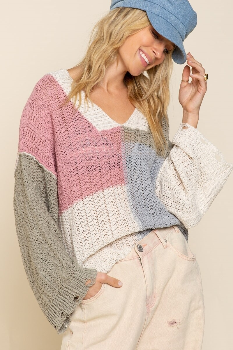 Banana Moouse Colorblocked sweater