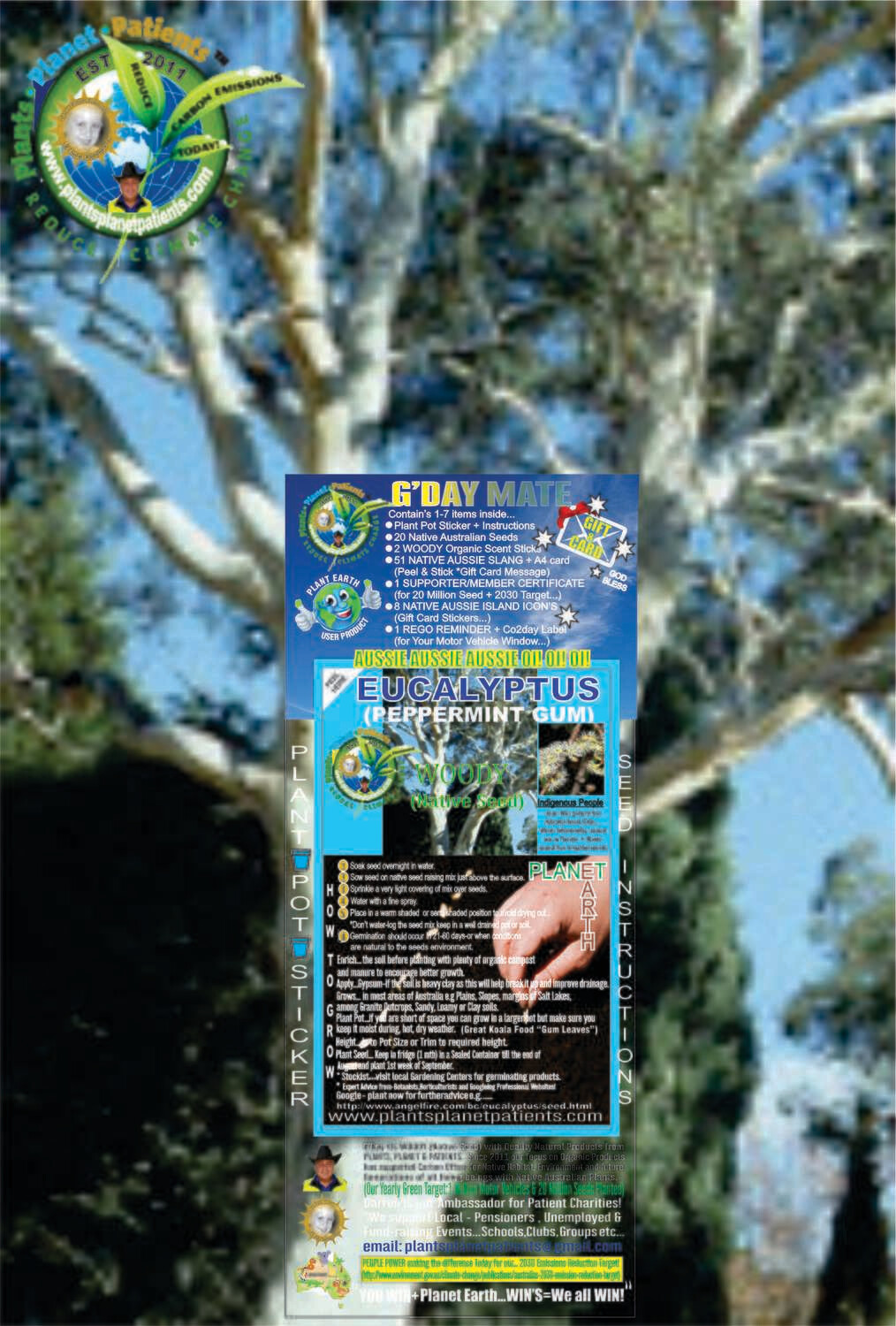 """🤠EUCALYPTUS...  G""""DAY MATE """"Gift&Card"""" COMBO PACK'S (FREE $29.95 PRODUCT with every $100 outlayed)"""