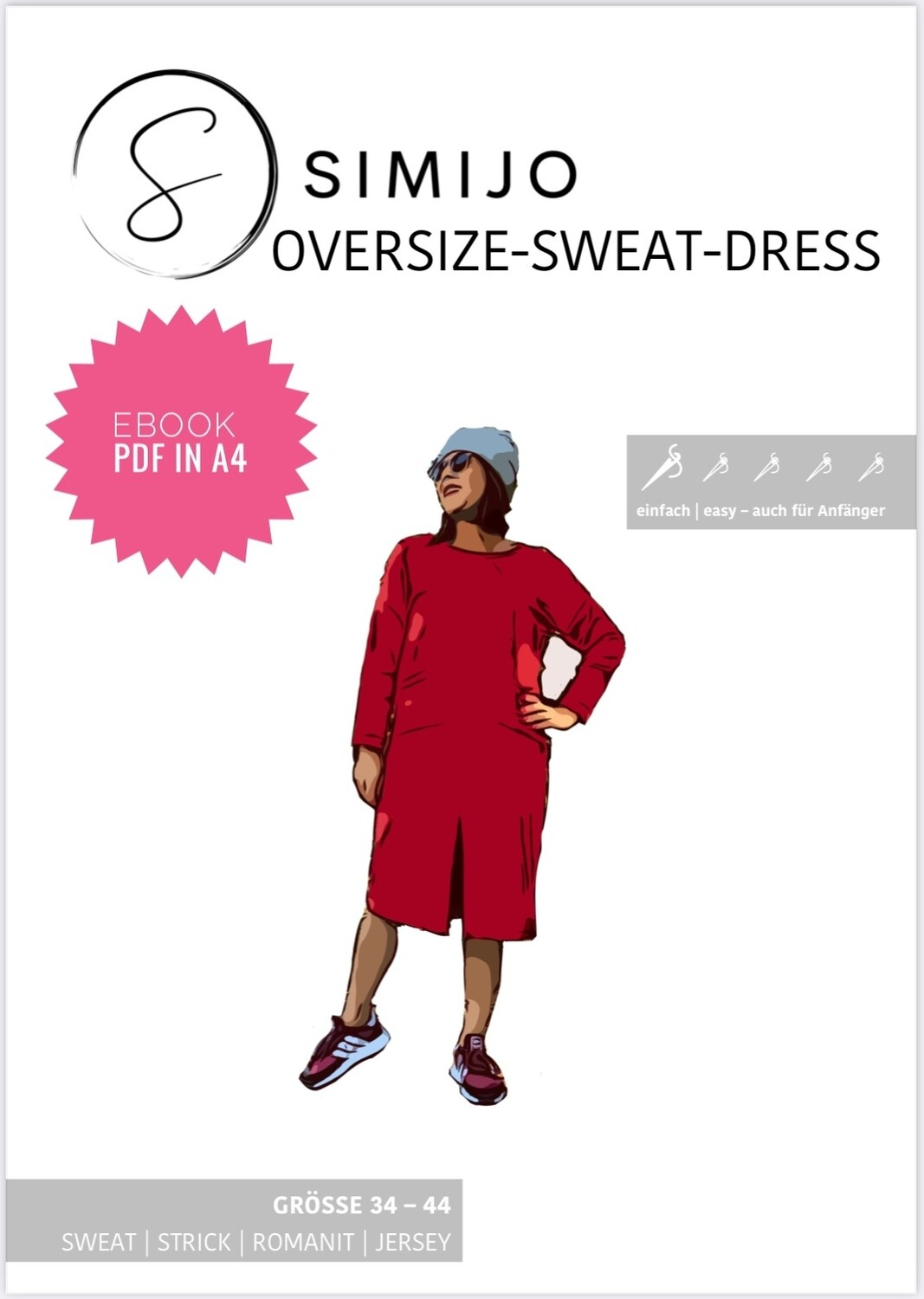 Oversize Sweat Dress - eBook Schnittmuster (PDF A4 Druck)
