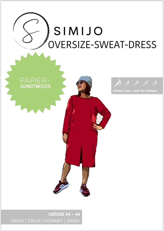 Oversize-Sweat-Dress - Papierschnittmuster