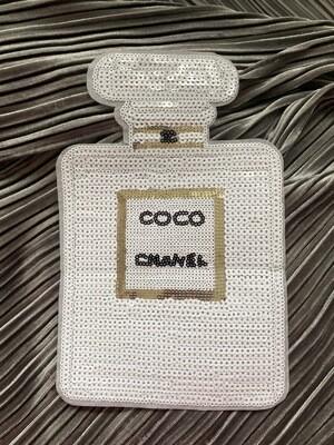 Parfüm XXL Pailletten Patch - weiß
