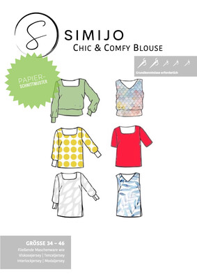 Chic & Comfy Blouse - Papierschnittmuster