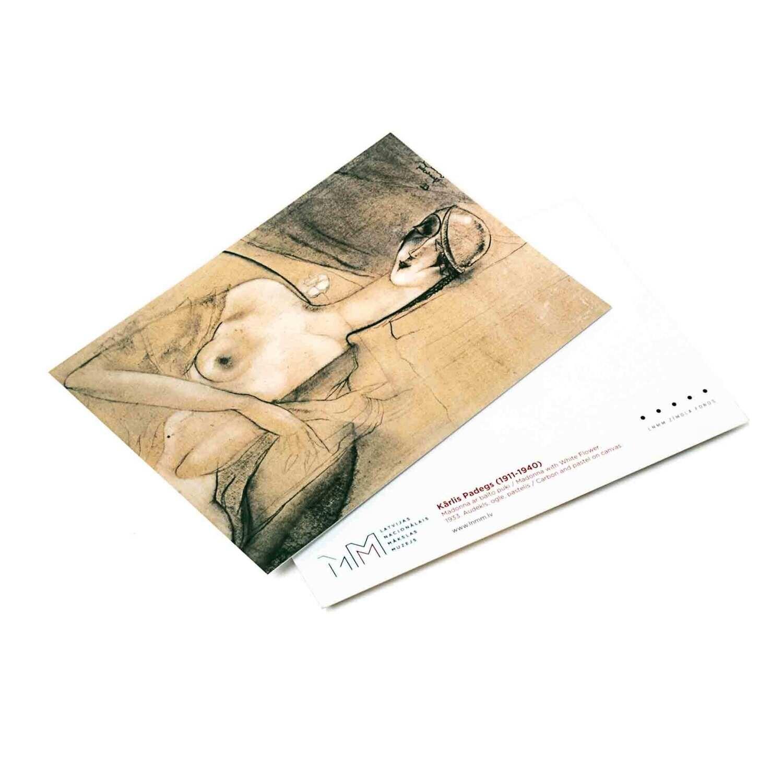 Atklātne. K. Padegs, Madonna ar balto puķi