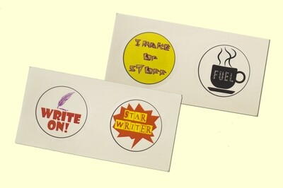 4 Stickers for Writers - Combo 3
