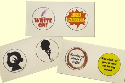 6 Stickers for Writers - Combo 5