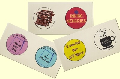 6 Stickers for Writers - Combo 4