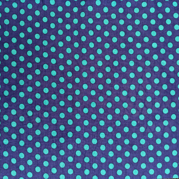 Green Dots on Blue