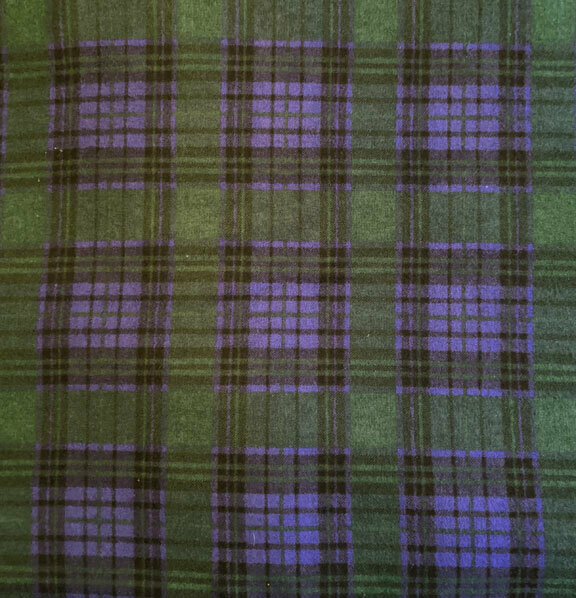 Green and Purple Plaid Flannel