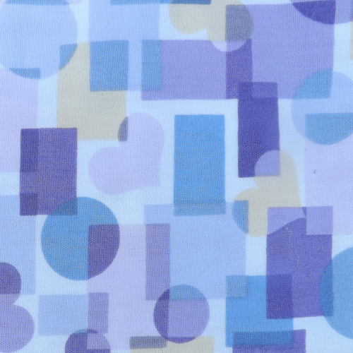 Purple Blue and Yellow Shapes