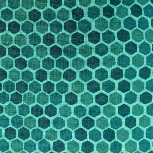 Teal Honeycomb