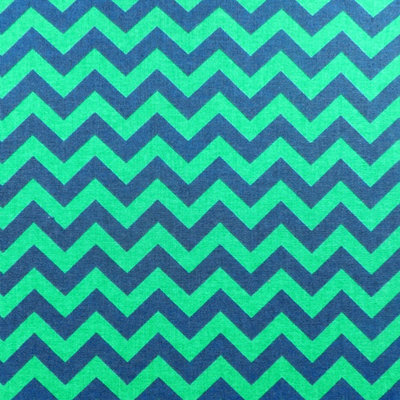 Green and Navy Chevron