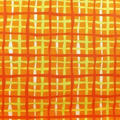 Wavy Plaid in Tiger Lily