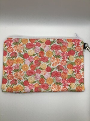 Colorful Flowers Zipper Pouch