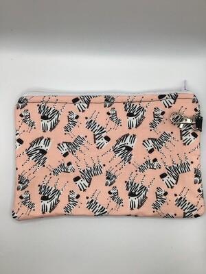 Zebra Zipper Pouch