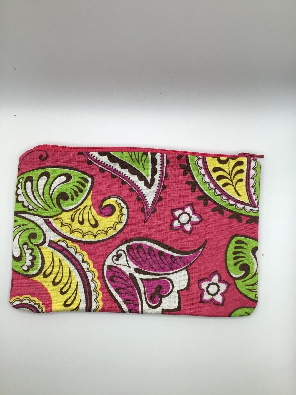 Pink Paisley Zipper Pouch