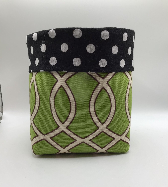 Green Fabric Bin