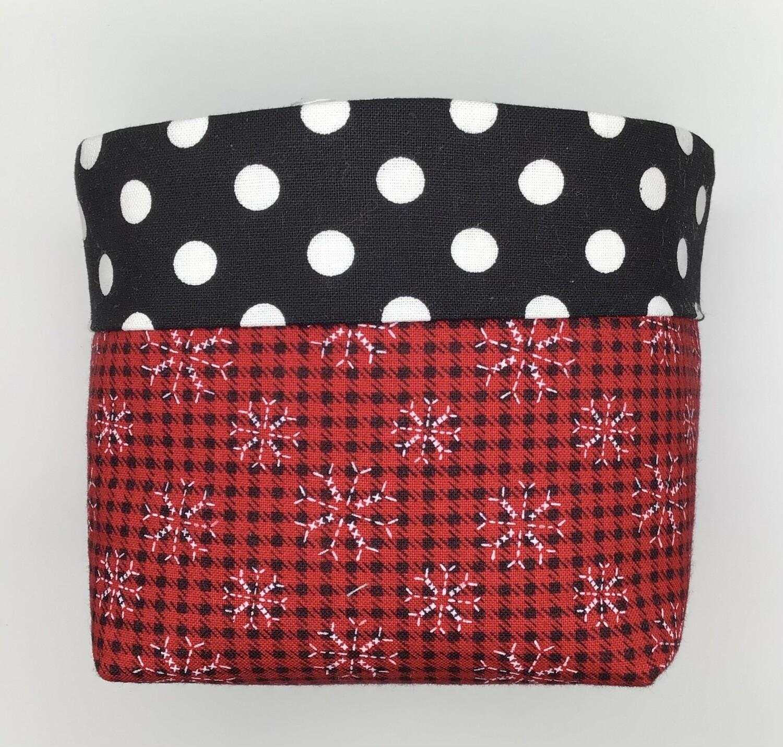 Red Fabric Bin
