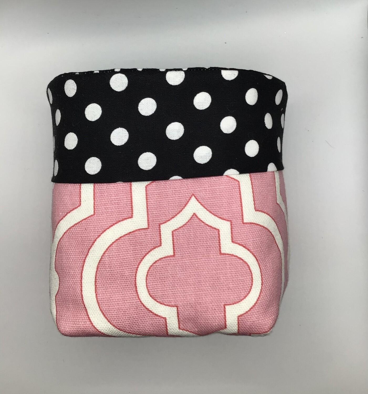 Pink Med Fabric Bin
