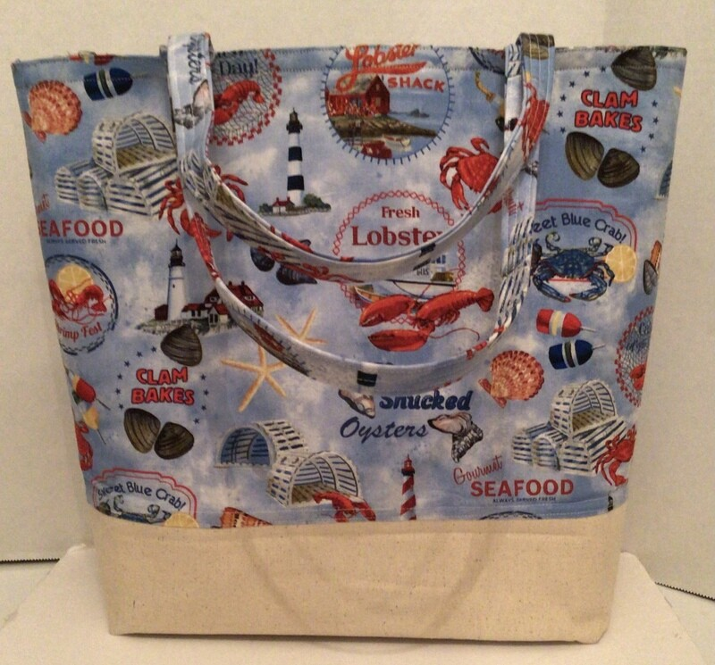 Blue Red Lobsters Bag