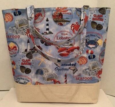 Blue Red Lobsters Bag