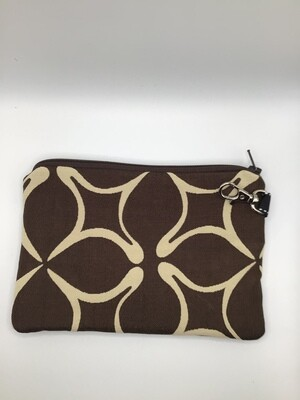 Brown Zipper Pouch