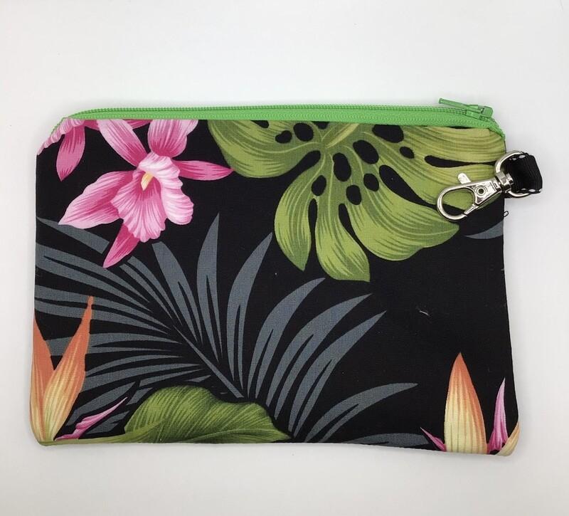 Hawaian Flowers Zipper Pouch