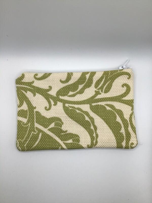 Green Leaves Zipper Pouch