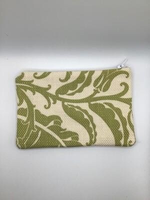 Green Leaves Zipper Pouch