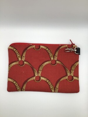 Burgundy Zipper Pouch