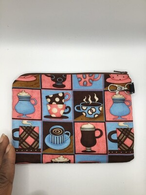 Tea Cups Zipper Pouch